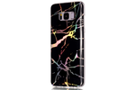 Black Holo Marble Samsung Phone Case