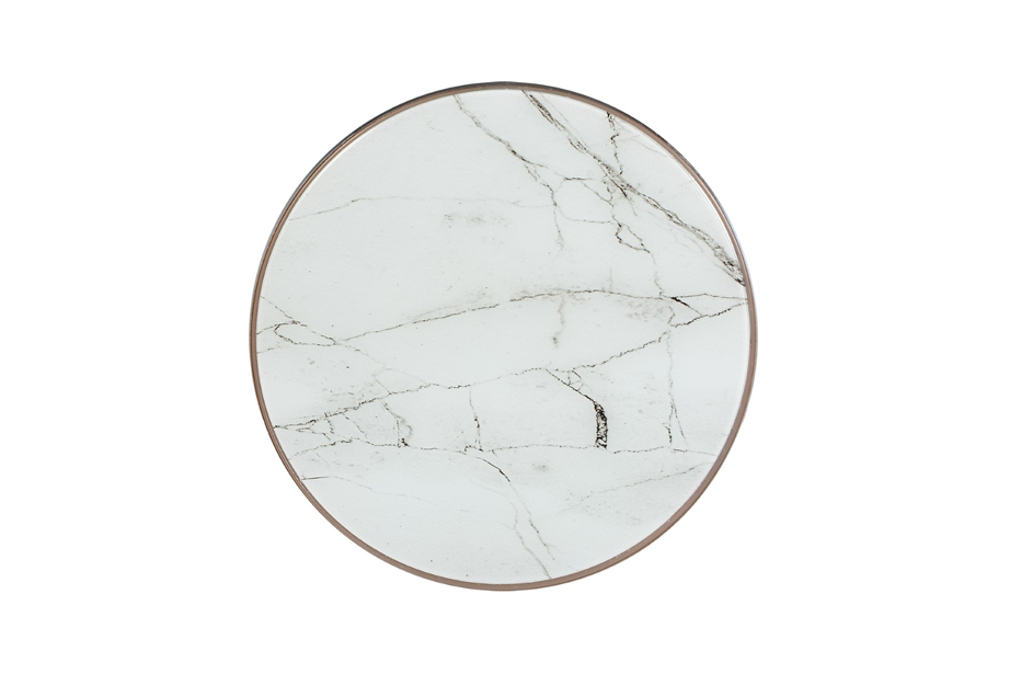 White Marble Wireless Charging Pad