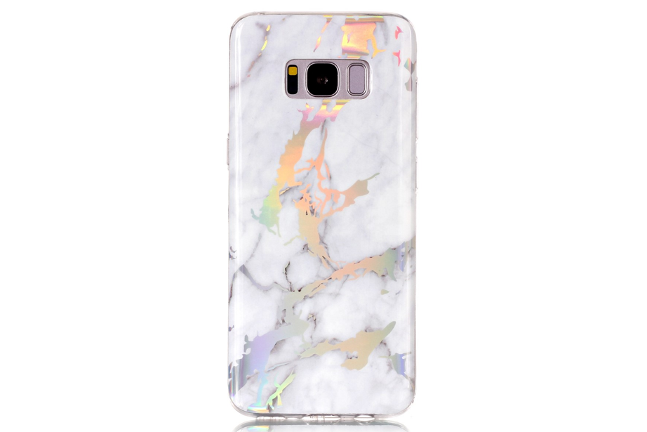 White Holo Marble Samsung Phone Case