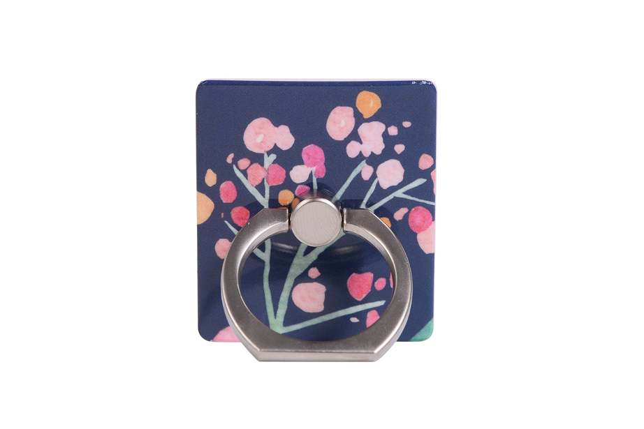 Navy Blooms Ring Holder