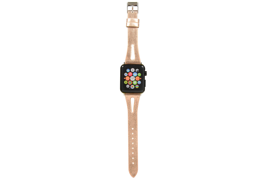 Gold Shimmer Leather Watch Band