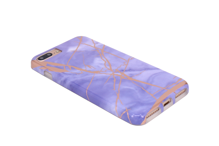 Purple & Rose Gold Marble Phone Case