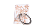 White & Gold Floral Ring Holder