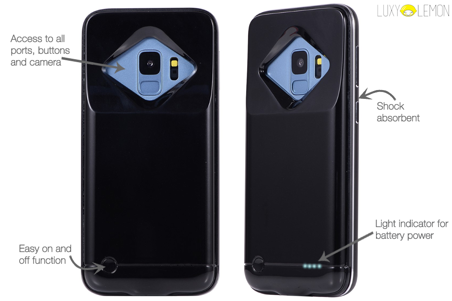 Black Battery Power Samsung Phone Case
