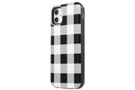 Black Check Battery Power Phone Case