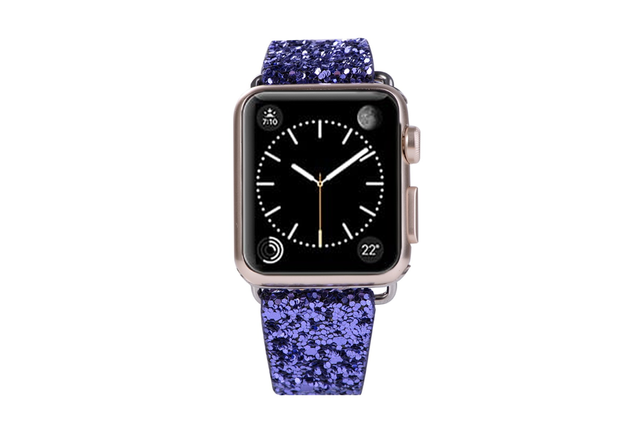 Purple Glitter Watch Band