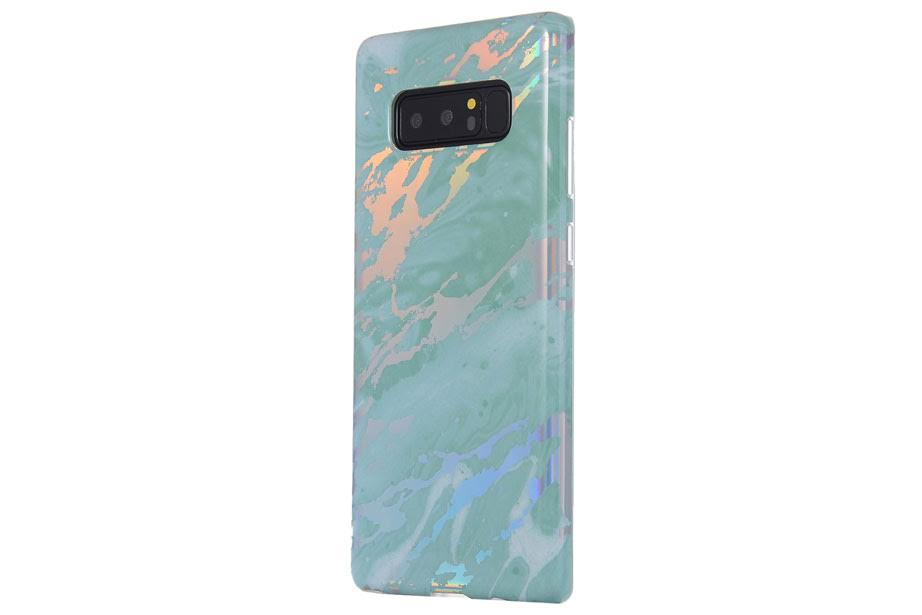 Blue Holo Marble Samsung Phone Case