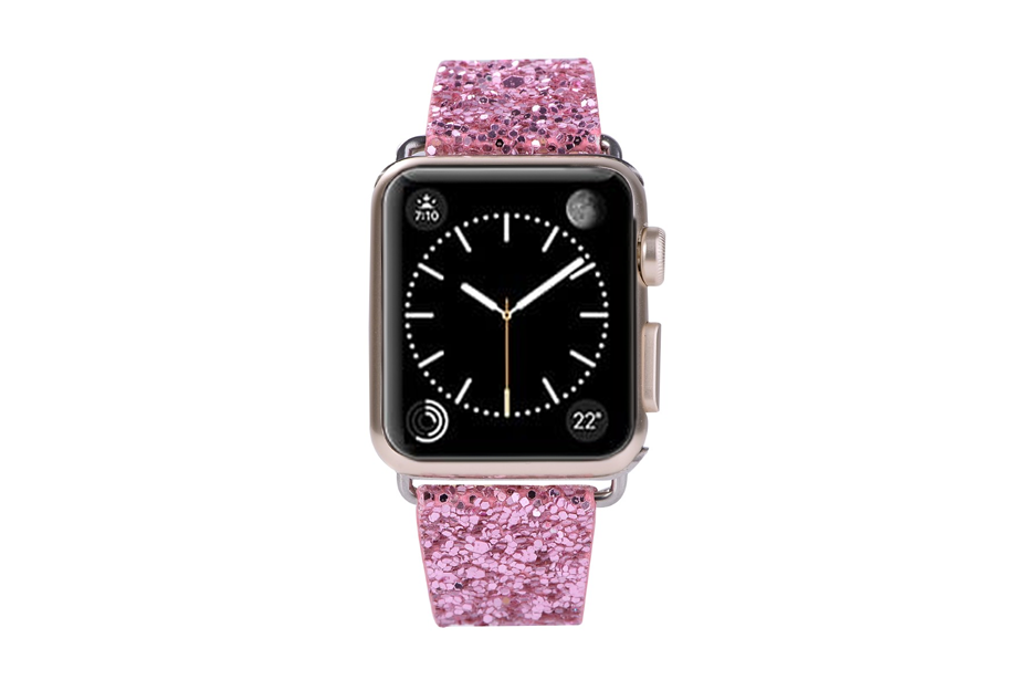Pink Glitter Watch Band