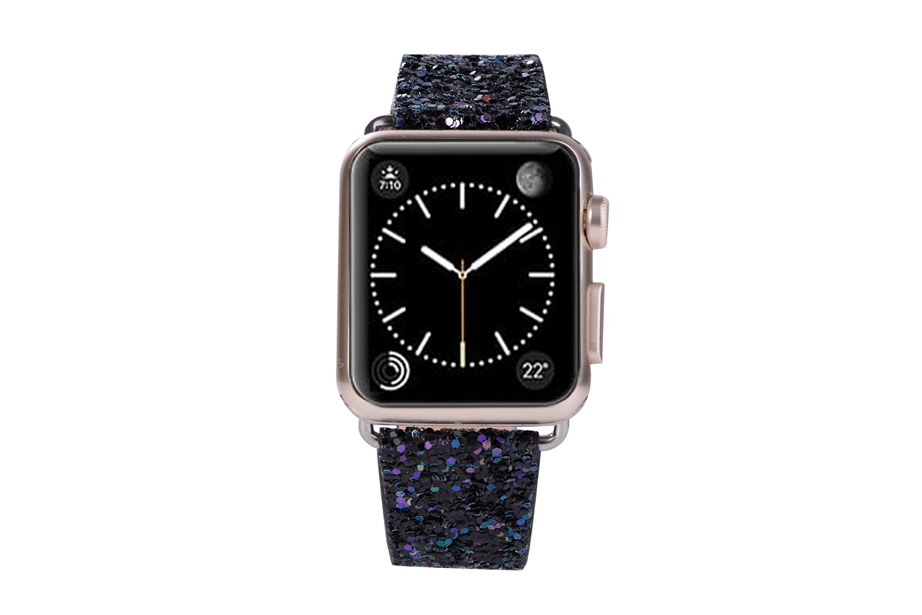 Black Glitter Watch Band