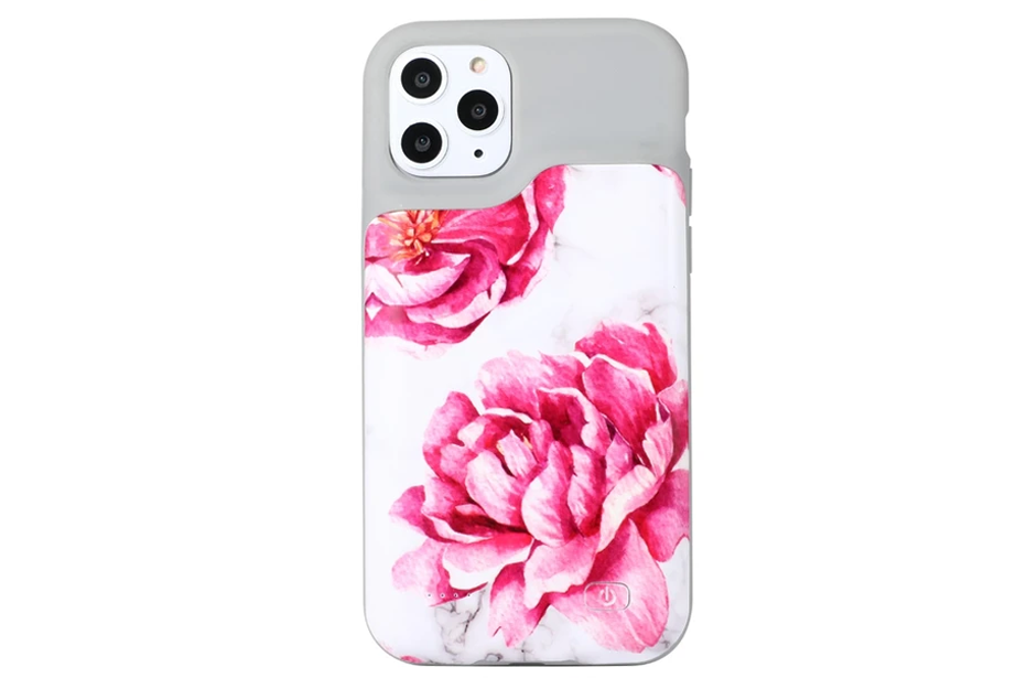 White Marble Floral Ultra Battery Power Phone Case