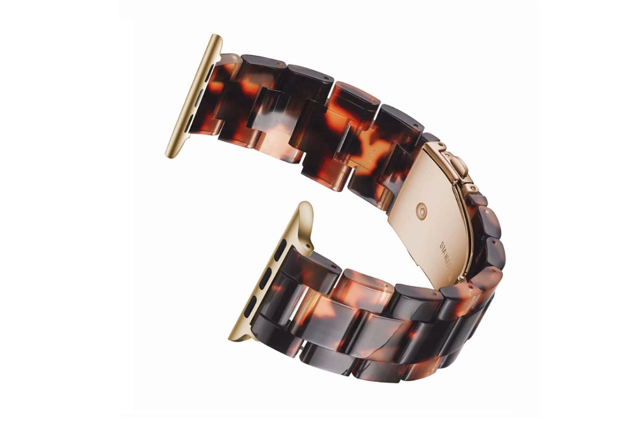 Brown Tortoise Shell Bracelet Watch Band