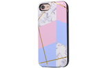 Geo Metallic Marble Battery Power Phone Case