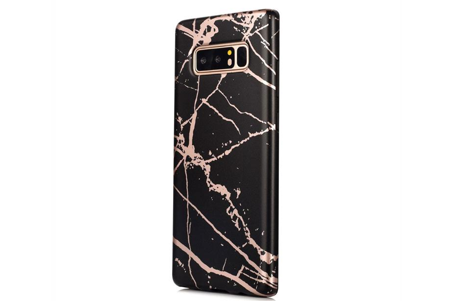 Black & Rose Gold Marble Samsung Phone Case