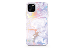White Metallic Holo Marble Phone Case