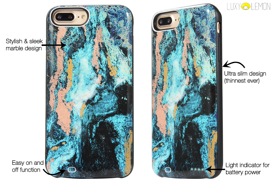 newest d187e 15a05 Mystic Marble Battery Power Phone Case