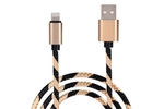 Gold & Black Striped Charge & Sync Cable