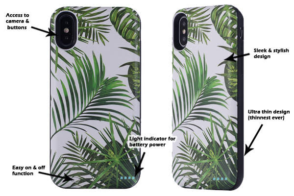 Palm Trees Battery Power Phone Case