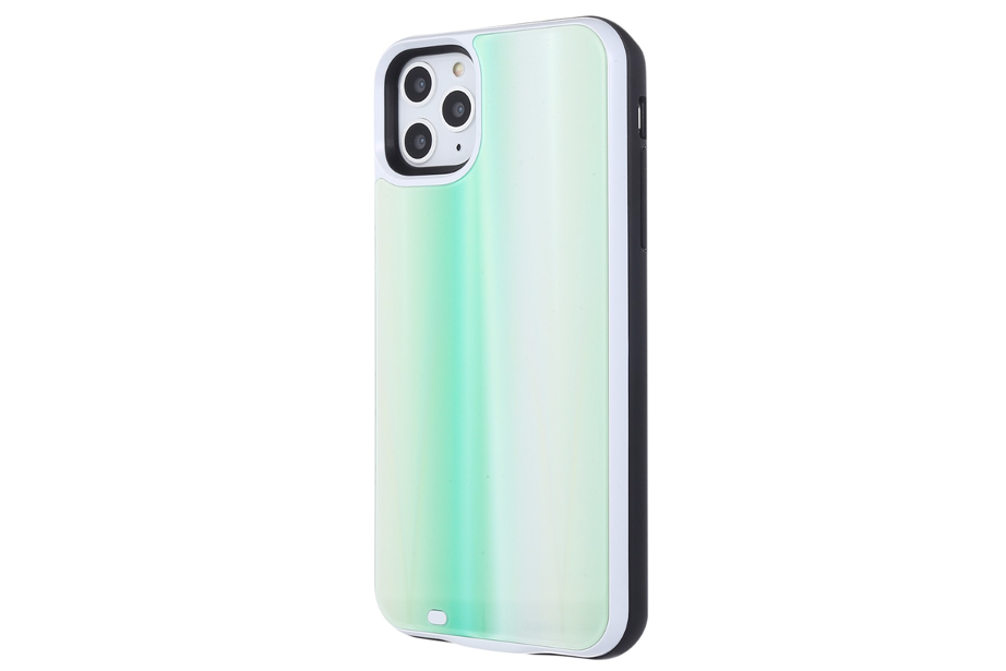 Mint Laser Holo Glass Battery Power Phone Case