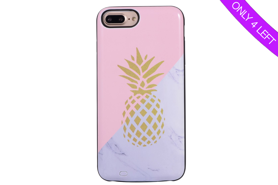 Pineapple Marble Battery Power Phone Case