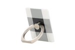 Black Check Ring Holder