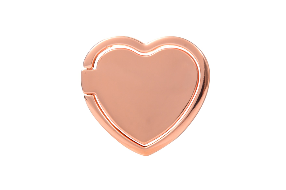 Shiny Rose Gold Heart Ring Holder