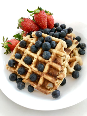 Brown rice healthy waffle recipe