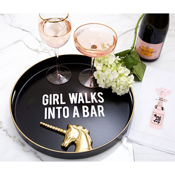 GIRL WALKS INTO A BAR TRAY