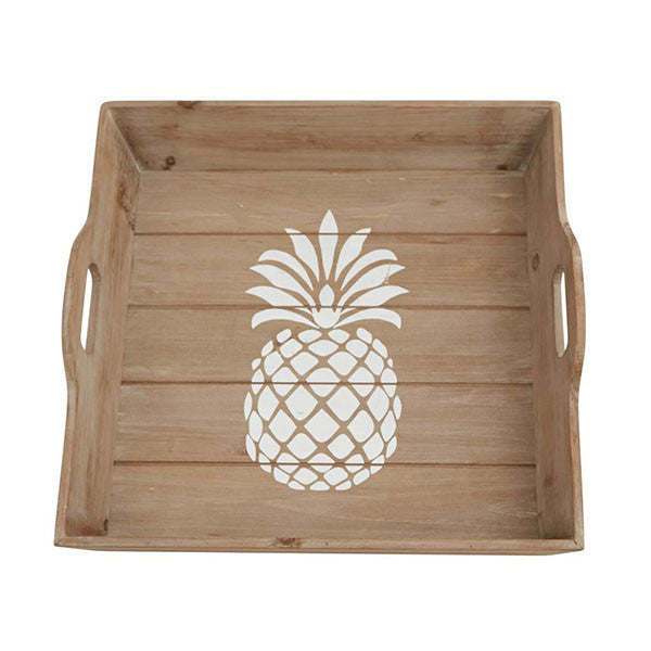 WOOD PINEAPPLE TRAY