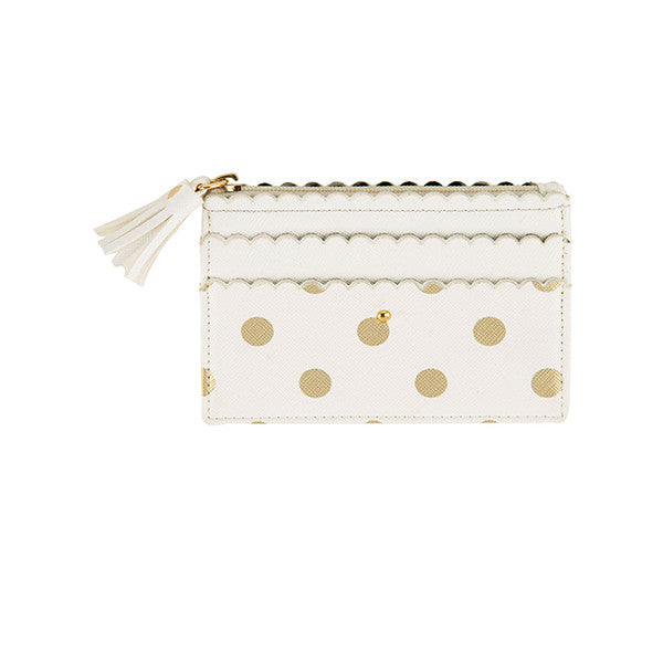 ALLEGRA CARD CASE- WHITE