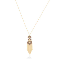 GOLD CHAIN FRINGE DROP PENDANT