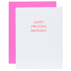 HAPPY F'ING BIRTHDAY CARD