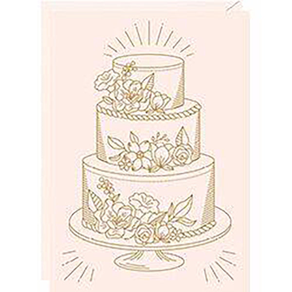 WEDDING CAKE FOIL CARD