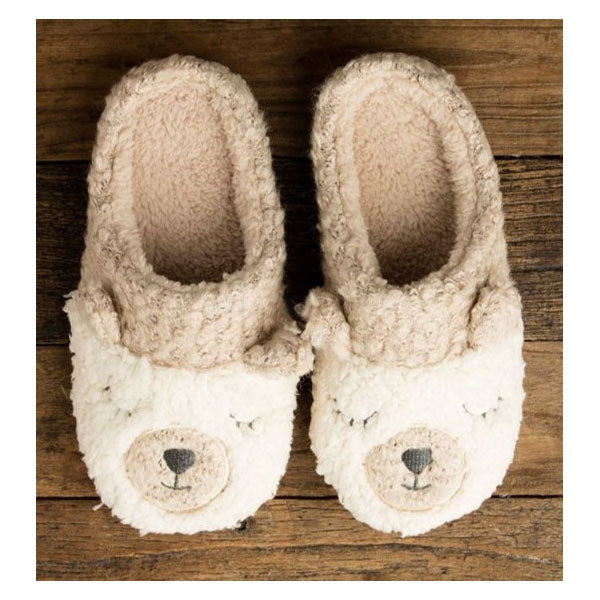 BERBER BEAR SLIPPERS- POWDER