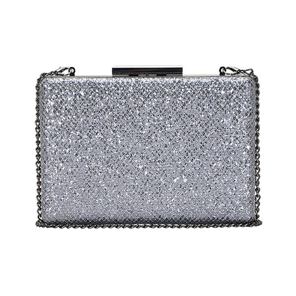 PEWTER SPARKLE CLUTCH