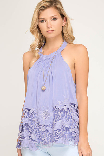 LILAC LACE TANK TOP