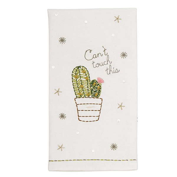 EMB SEQUIN CACTUS TOWELS- CAN'T TOUCH
