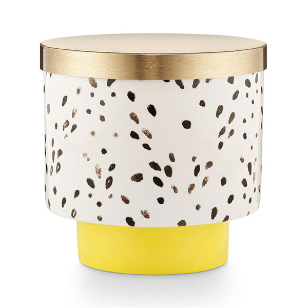 GOLDEN HONEYSUCKLE LIDDED CERAMIC CANDLE
