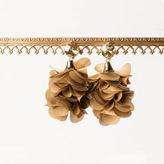 ALMA BLOOM EARRINGS- FAWN
