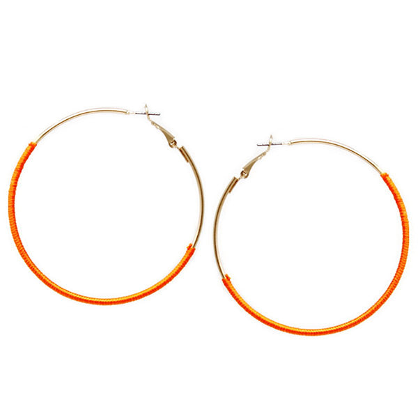 ORANGE AND GOLD HOOP