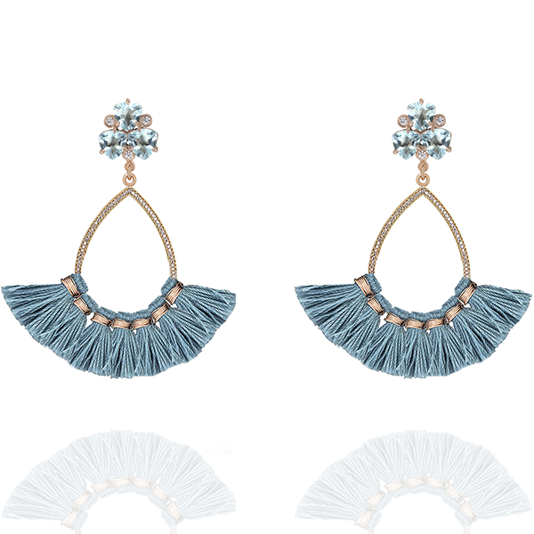 OPHELIA EARRINGS- CORNFLOWER BLUE