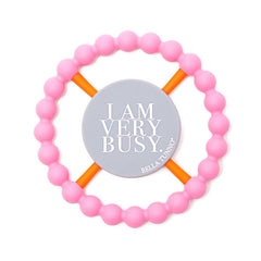 I AM VERY BUSY TEETHER- PINK