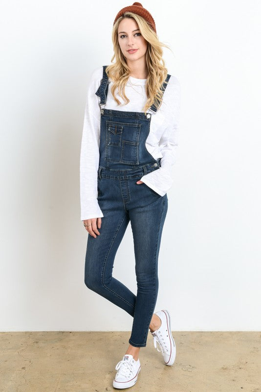 DENIM OVERALLS- DARK