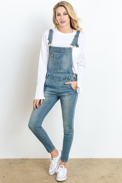 DENIM OVERALLS- LIGHT