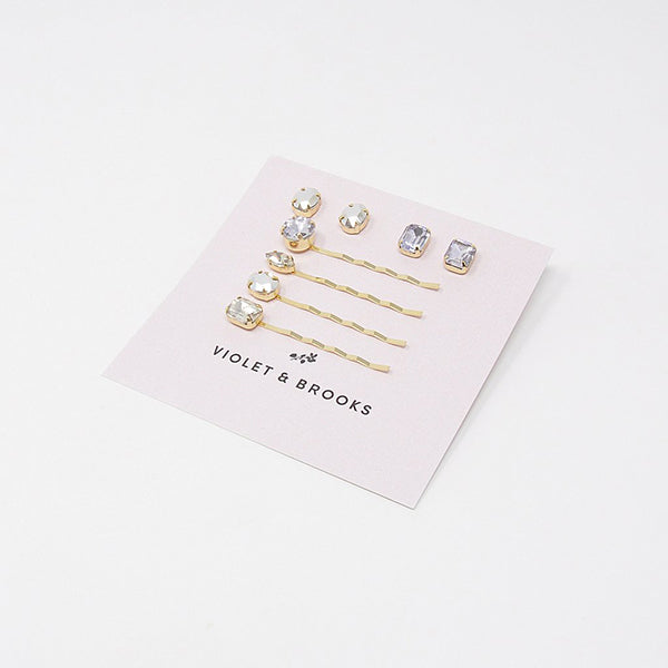 BELLA BOBBIE PIN & EARRING SET- CLEARS