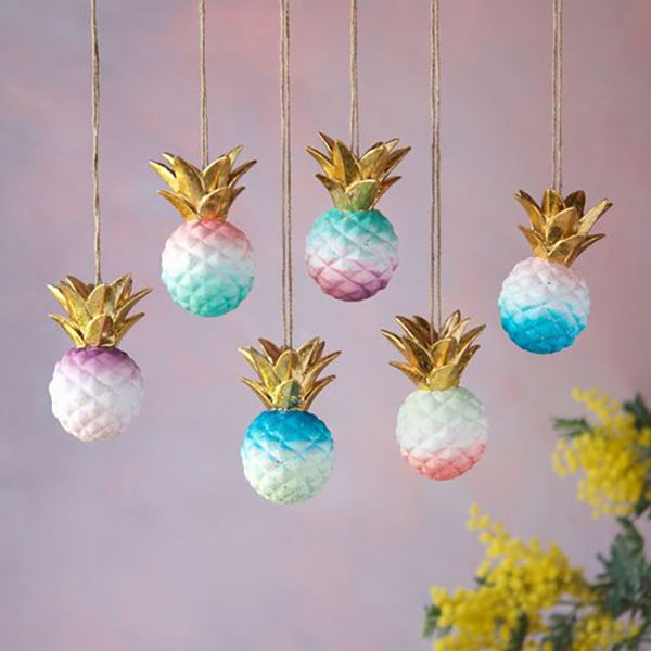 OMBRE PINEAPPLE ORNAMENTS