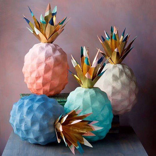 PAPERMACHE PINEAPPLES