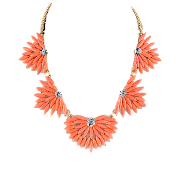 MARQUISE NECKLACE- CORAL