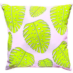 PINK PALM PILLOW