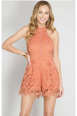 DUSTY PEACH ROMPER