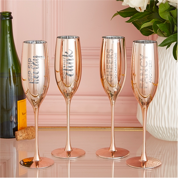 ROSE GOLD CHAMPAGNE GLASS